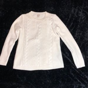 J Crew Cream Cable Knit Sweater S